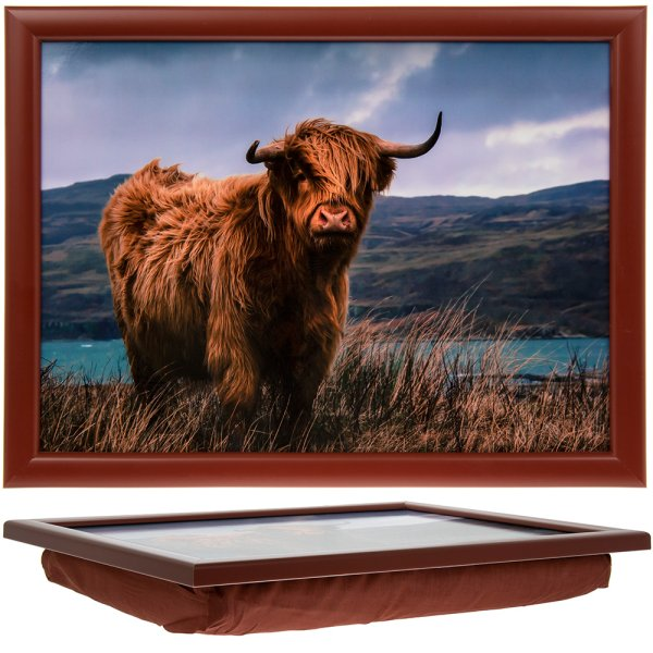 HIGHLAND COW LAPTRAY
