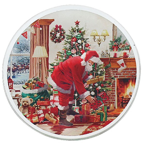 SANTA CANDLE PLATE 10CM