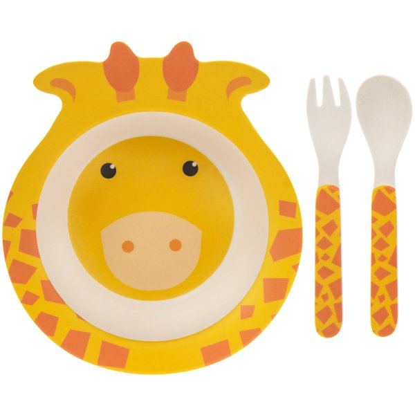 BAMBOO ECO EATING SET GIRAFFE