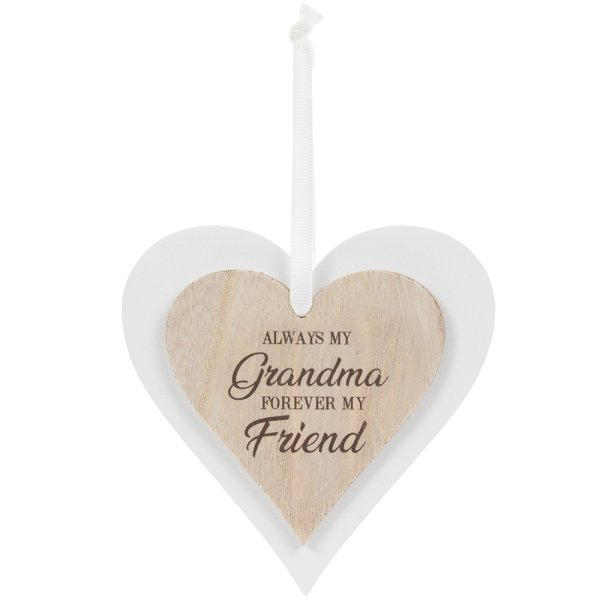 DBL HEART PLAQUE GRANDMA