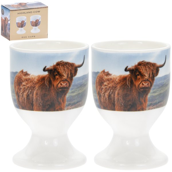 HIGHLAND COW EGG CUPS