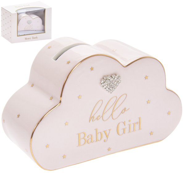 MADDOTS HELLO BABY GIRL M BANK