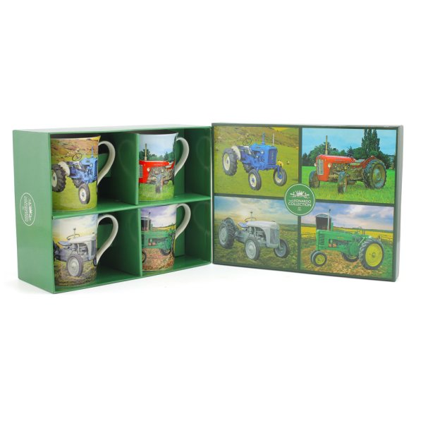 TRACTOR MUGS SET OF 4