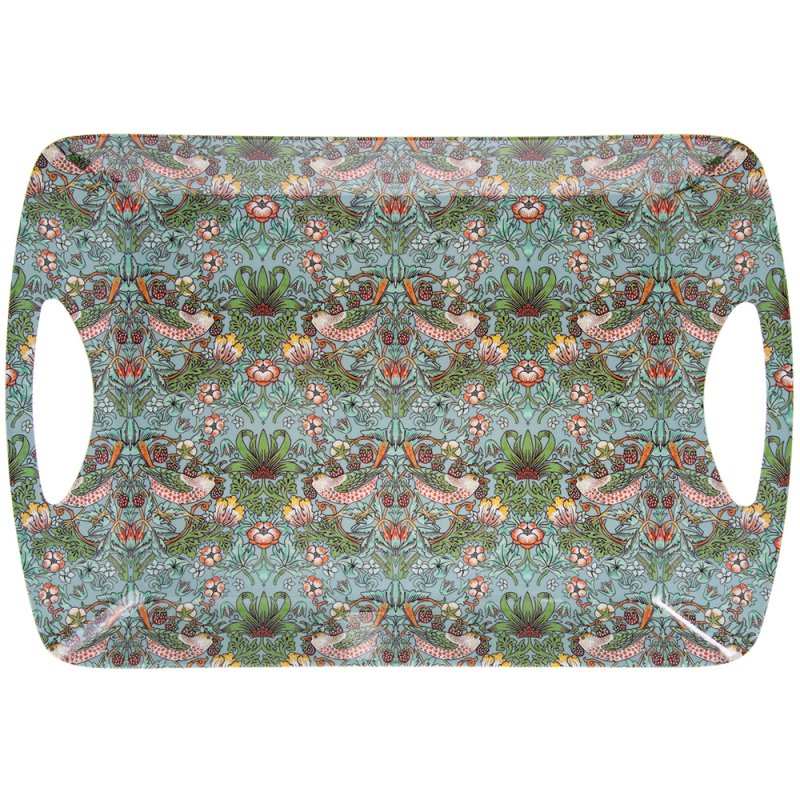 S'BERRY THIEF TEAL TRAY LARGE