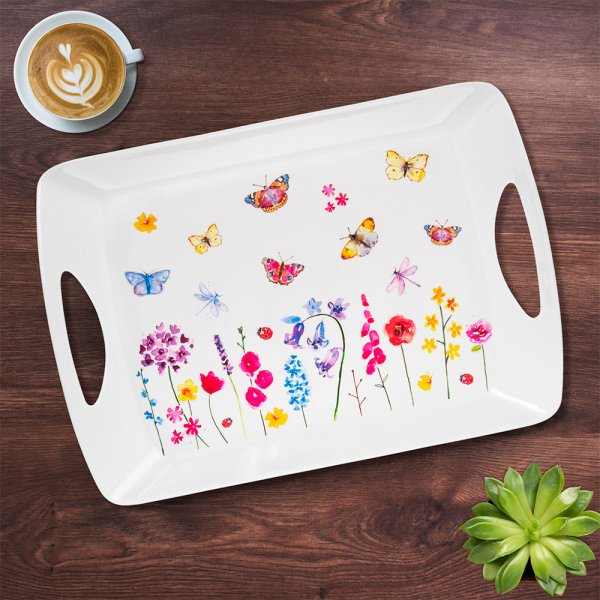 BUTTERFLY GARDEN TRAY LARGE