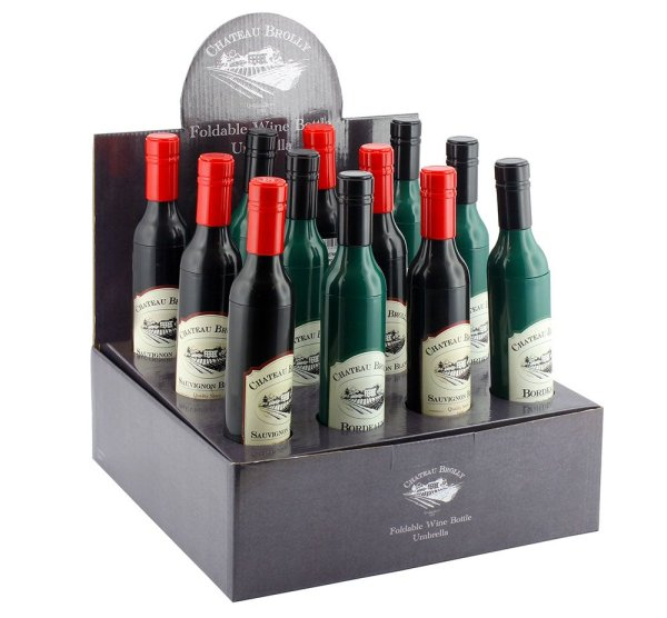 WINE BOTTLE FOLD UMBRELLA 2A