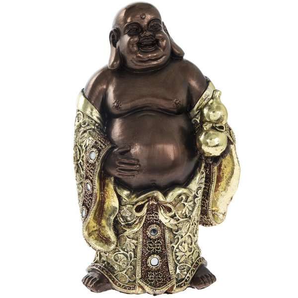 EXOTIC ART HAPPY BUDDHA 8""