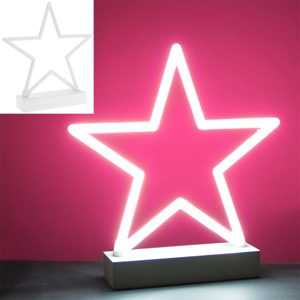 STAR WHITE NEON LAMP