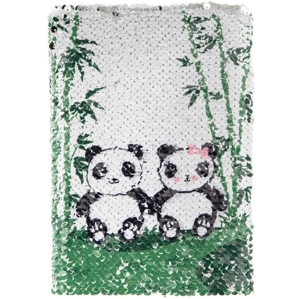 PANDA SEQUIN NOTEBOOK