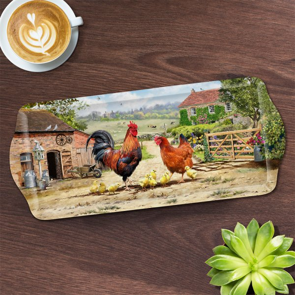 COCKEREL & HEN TRAY MED