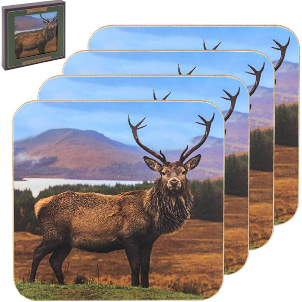 STAG COASTER SET 4
