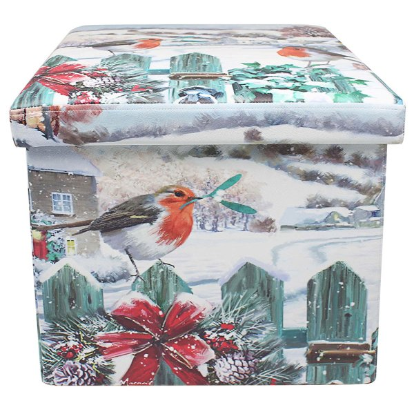 CHRISTMASROBINS FOLDINGSTORBOX