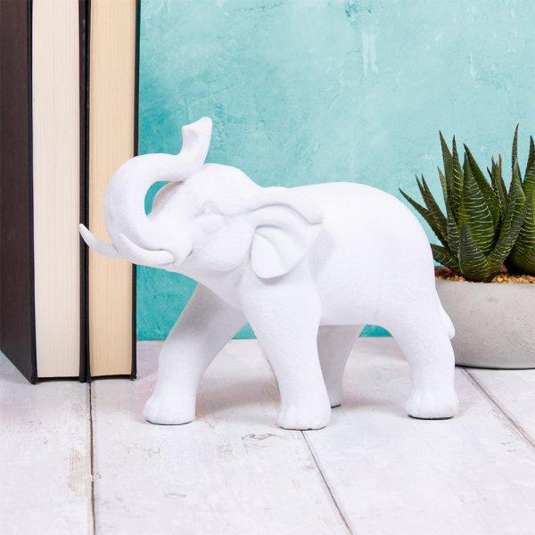 WHITE VELVET ELEPHANT