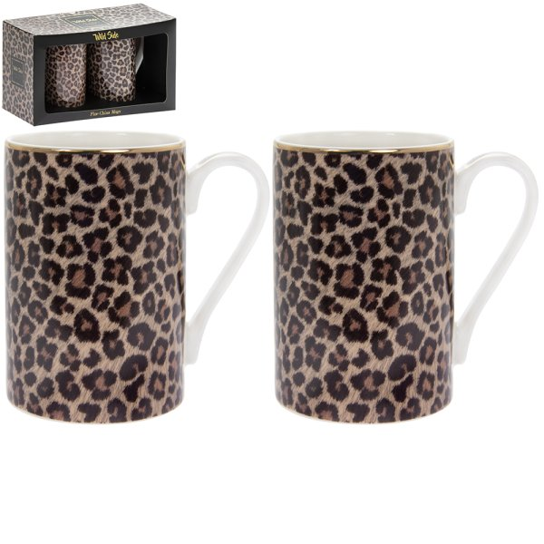 WILD SIDE SET OF 2 MUGS