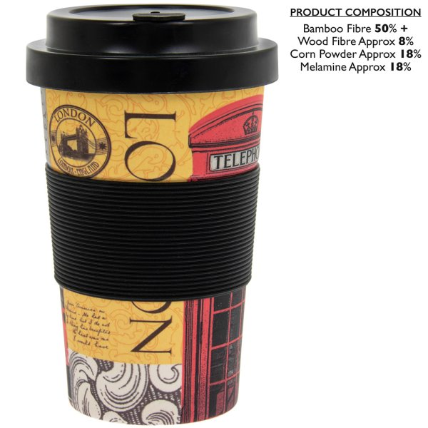 NEW LONDON BAMBOO TRAVEL MUG