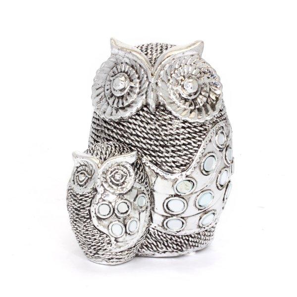 SILVER ART OWLS