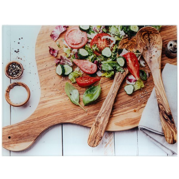 SALAD GLASS CUTTING BOARD LG