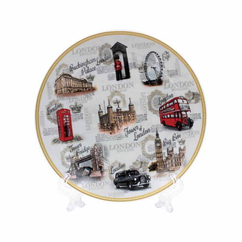VINTAGE LONDON PLATE WSTAND 8