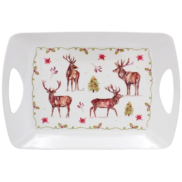 WINTER STAGS TRAY LARGE