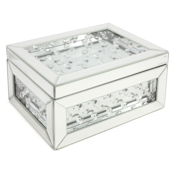 MIRROR JEWELLERY BOX CRYSTALS