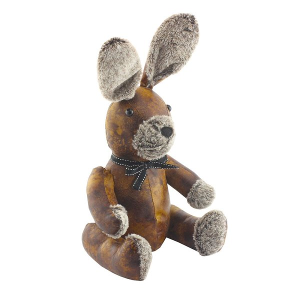 FAUX LEATHER RABBIT DOORSTOP