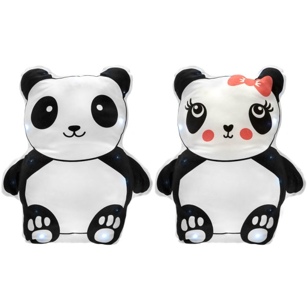 PANDA LED CUSHION 2 ASST