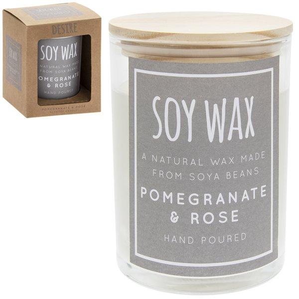 DESIRE SOY CANDL POMEGR&ROSE L