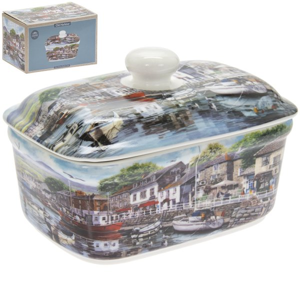 OLD HARBOUR BUTTER DISH