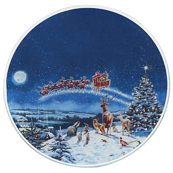 MAGIC OF XMAS CANDLE PLATE 20C