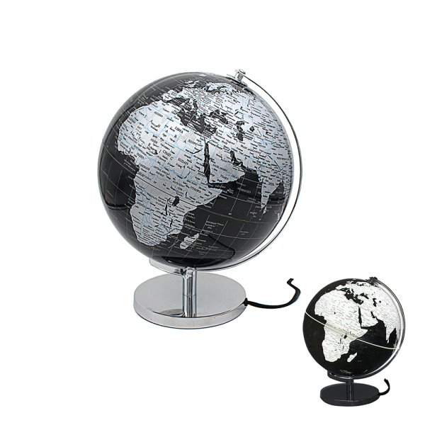 GLOBE SILVER & BLACK LIGHT UP