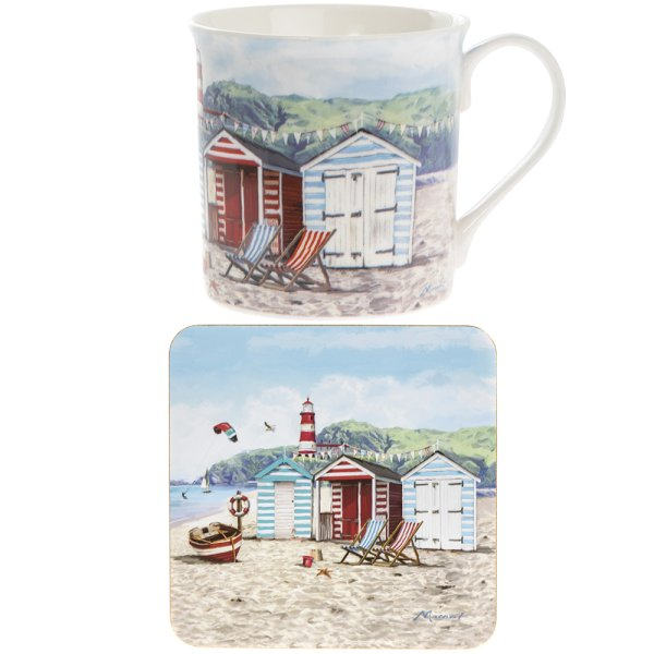 SANDY BAY MUG & COASTER