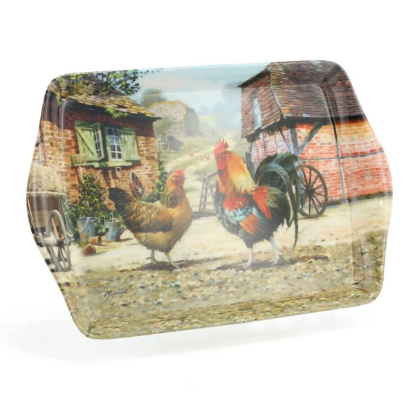 COCKEREL & HEN TRAY SMALL