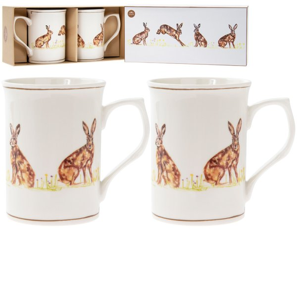 HARE MUGS 2 SET