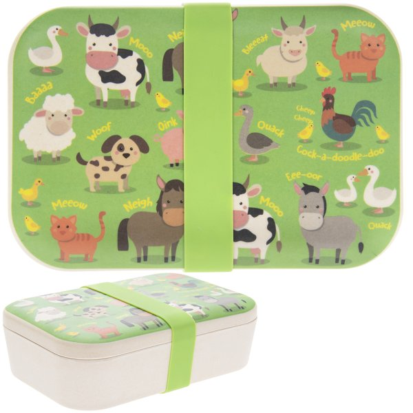 BAMBOO ECO LUNCH BOX FARMYARD