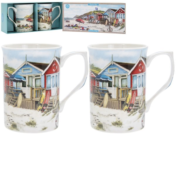 SANDY BAY MUGS SET OF 2