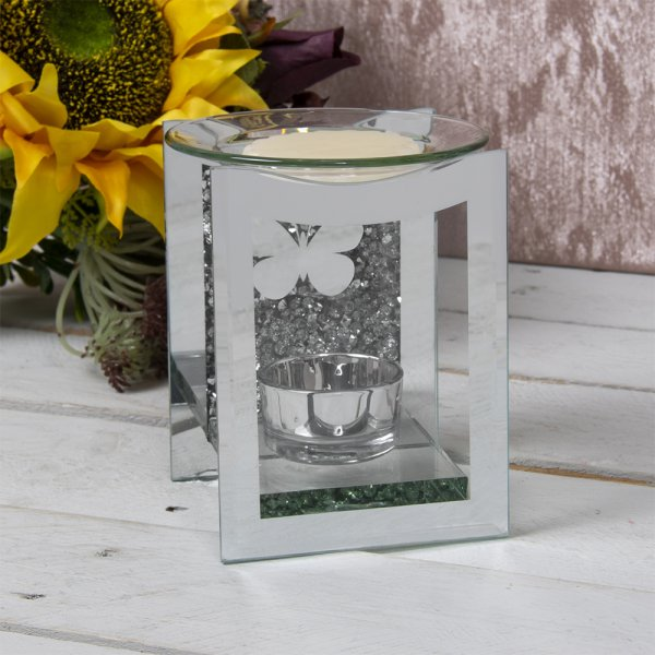 MIRROR CRYSTAL OIL BURNER BFLY