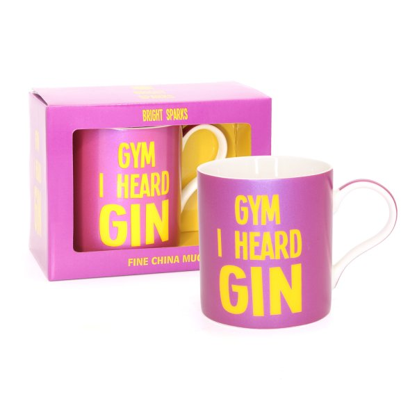 GYM I HEARED GIN MUG