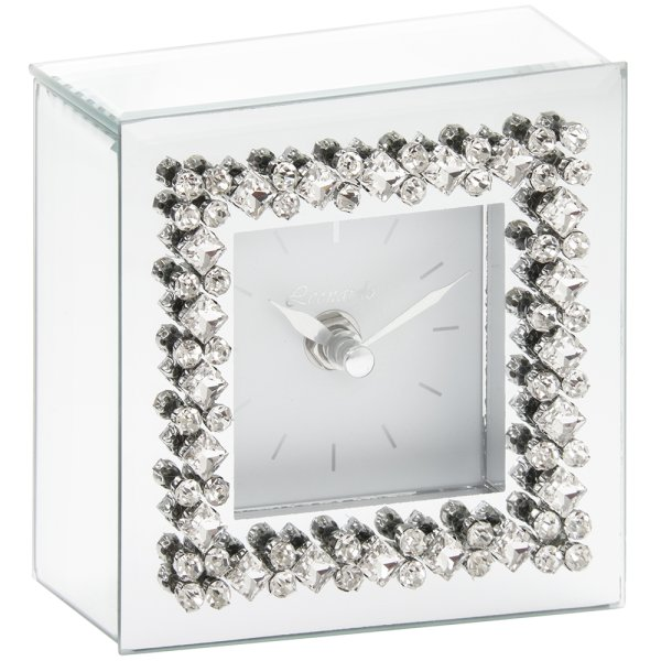 MIRROR DIAMANTE CLOCK