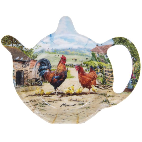 COCKEREL & HEN TEABAG TIDY