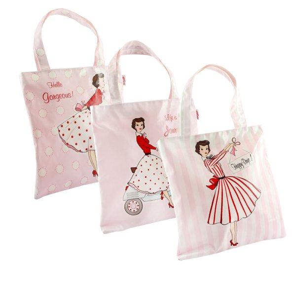 MRS SMITH HANDLED BAG 3 ASST