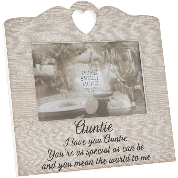 SENTIMENTS HEART FRAME AUNTIE