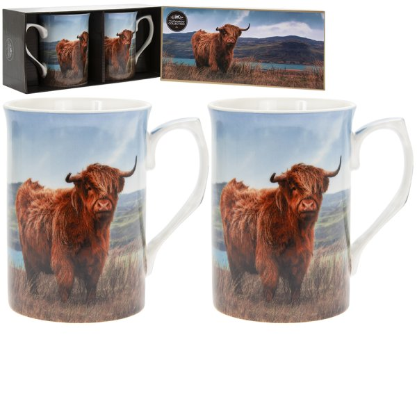 HIGHLAND COW MUGS SET OF 2