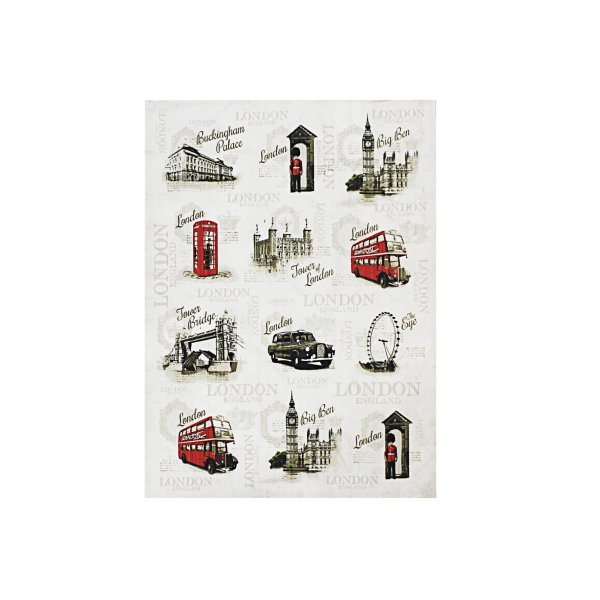 VINTAGE LONDON TEA TOWEL