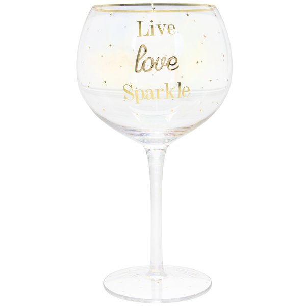 GIN GLASS LOVE LIVE SPARKLE