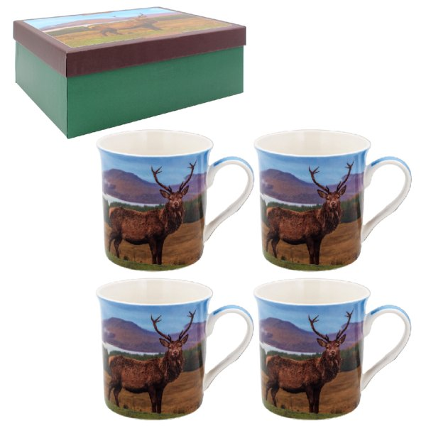 STAG MUGS SET 4