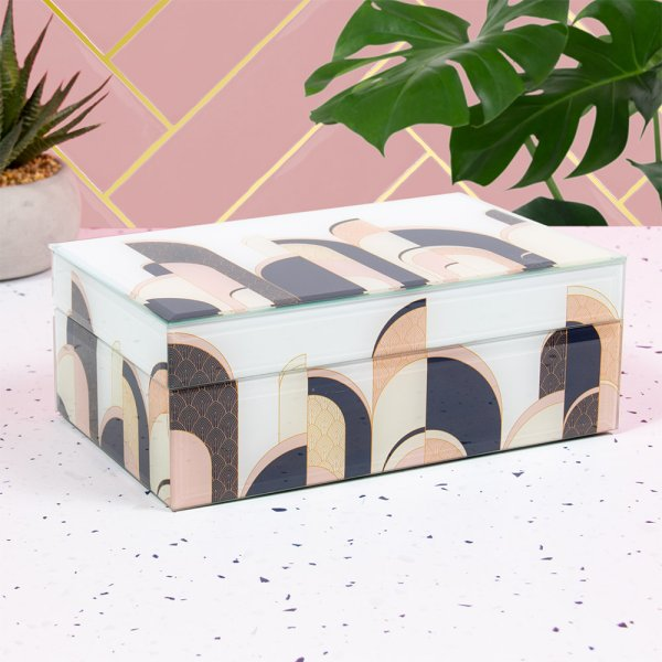 ART DECO JEWELLERY BOX LGE