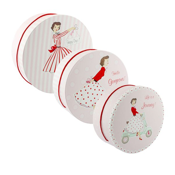 MRS SMITH HAT BOXES SET OF 3