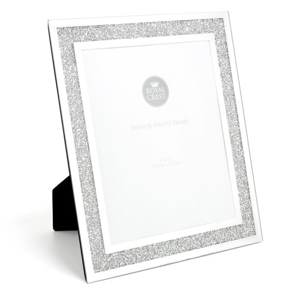 MIRROR & CRYSTAL FRAME 8X10""