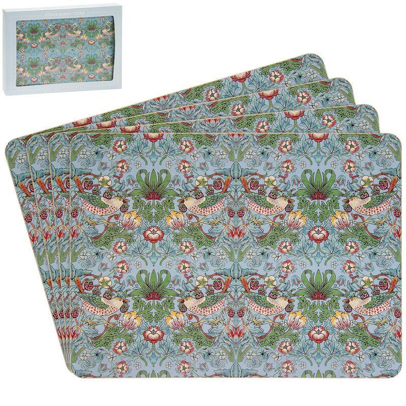S'BERRY THIEF TEAL PLACEMAT S4