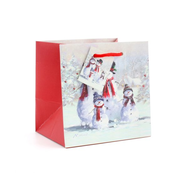 SNOWMAN FAMILY GIFT BAG SMALL